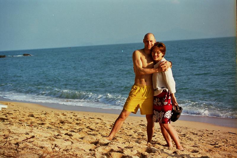 2000 December MiJung Rick beach morning.jpg