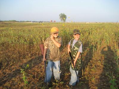 AIDAN AND ABBY DOVE HUNTING 2009