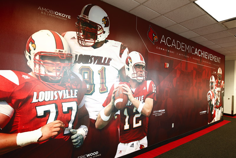 Louisville Football Academic Achievement wall