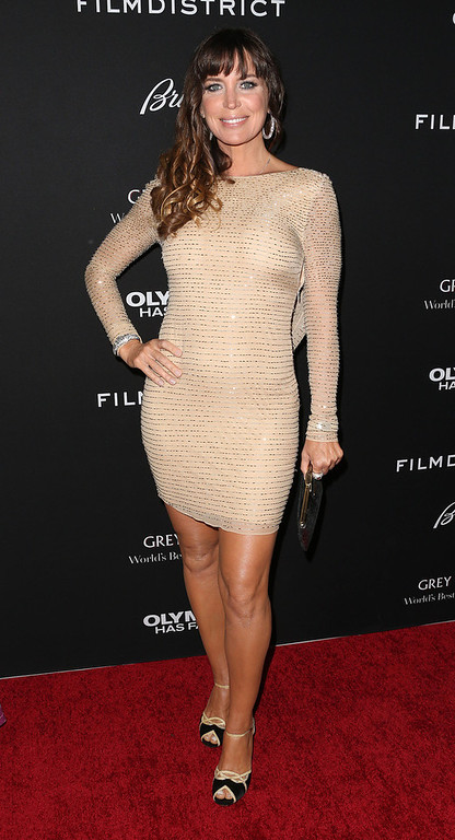 """. Actress Sandra Vidal attends the Premiere of FilmDistrict\'s \""""Olympus Has Fallen\"""" at the ArcLight Cinemas Cinerama Dome on March 18, 2013 in Hollywood, California.  (Photo by Frederick M. Brown/Getty Images)"""