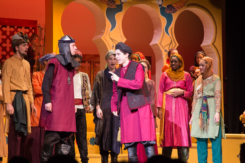 The Wazir of Police -- Kismet, Montgomery Blair High School spring musical, April 15, 2016 performance (Silver Spring, MD)