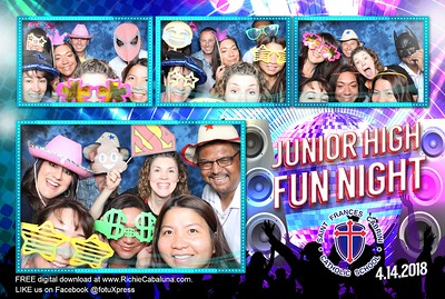 Saint Frances Cabrini Junior High Fun Night April 2018