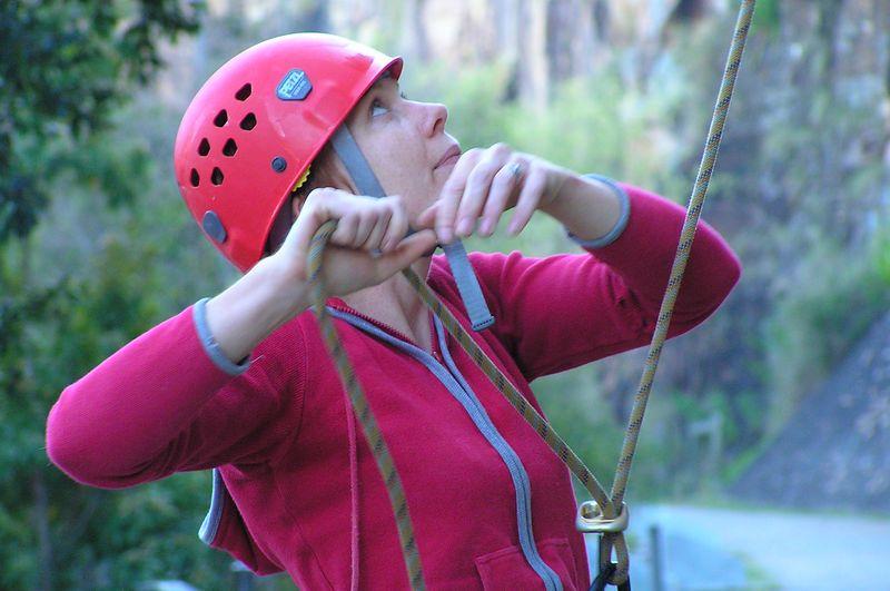Christabel belaying. 15 Sep 05