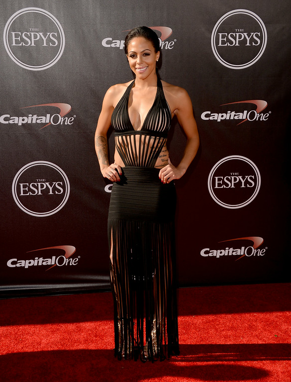 . LOS ANGELES, CA - JULY 16:  Professional soccer player Sydney Leroux attends The 2014 ESPYS at Nokia Theatre L.A. Live on July 16, 2014 in Los Angeles, California.  (Photo by Jason Merritt/Getty Images)