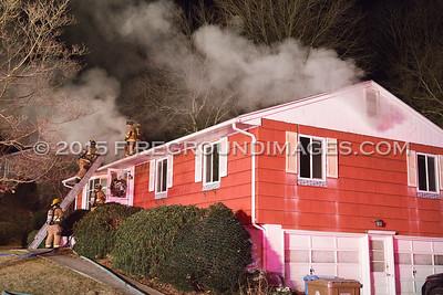 Cedar Hill Rd. Fire (Shelton, CT) 1/1/15