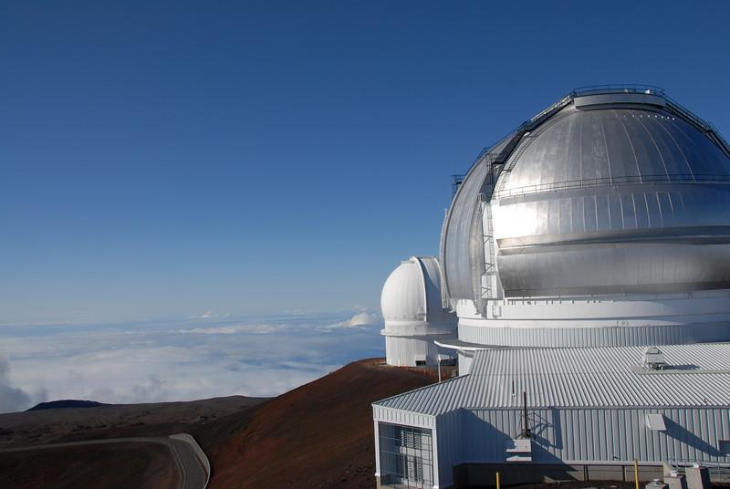 Keck telescopes on top of Mauna Kea, Hawaii