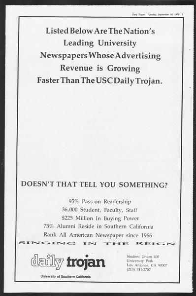 Daily Trojan, Vol. 87, No. 2, September 18, 1979