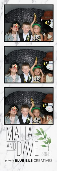 Congrats to Malia and Dave! Looking for an awesome photo booth for your next event? Check out bluebuscreatives.com for more info!