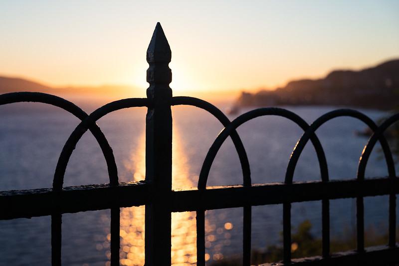 Sunset view from Rothaugen skole, Bergen, Norway.