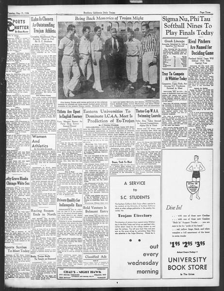Daily Trojan, Vol. 27, No. 139, May 19, 1936