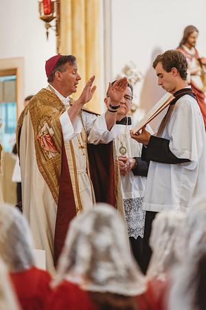 Confirmations with Bishop Coffey - FSSP