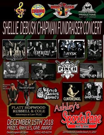 BENEFIT FOR SHELLIE CHAPMAN Ashley's SportsPage, Satellite Beach, FL 12-15-18