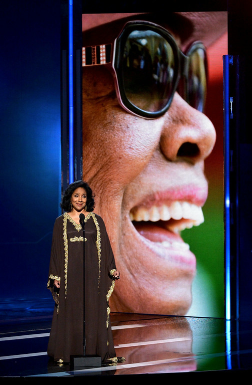 . Actress Phylicia Rashad speaks onstage during the BET AWARDS \'14 at Nokia Theatre L.A. LIVE on June 29, 2014 in Los Angeles, California.  (Photo by Kevin Winter/Getty Images for BET)