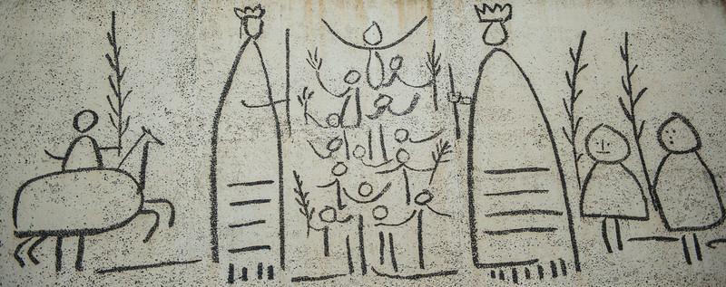 "Picasso ""mural"" in Gotic Neighborhood."