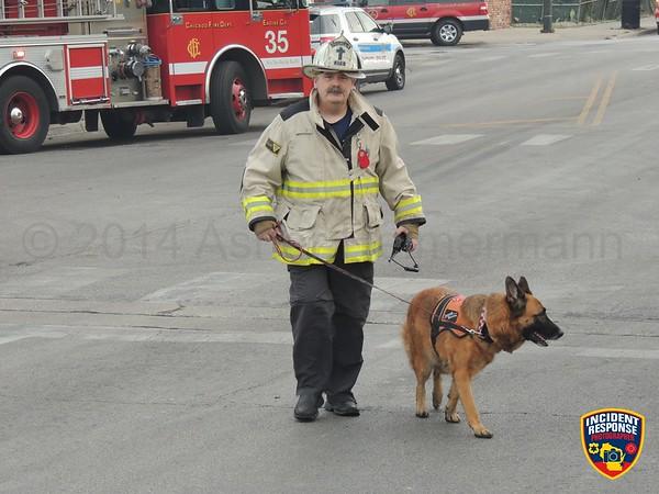 Warehouse fire on September 25, 2014