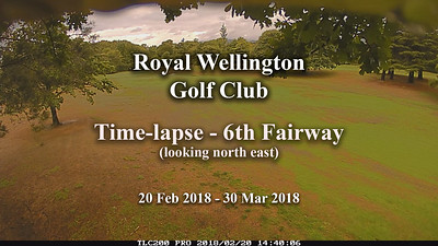 Apr 18 - Time-lapse - RWGC 6th Fairway growth