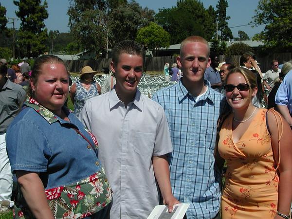 BEN'S MIDDLE SCHOOL GRADUATION 2002
