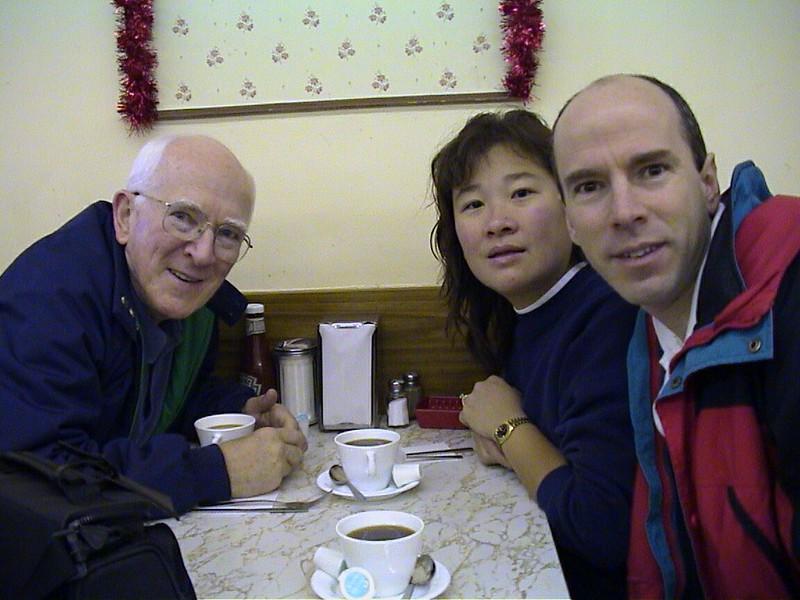 """At """"Julie's Place"""" (Village Panty, Los Altos), Dec 2001"""