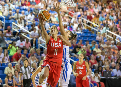 USA Women's Basketball vs France  7-27-16