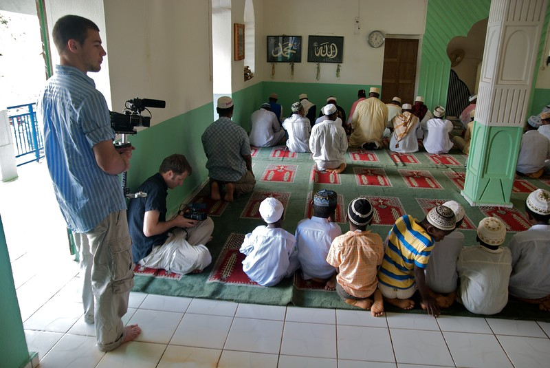 Tim and Andy film youth in mosque  OFM team