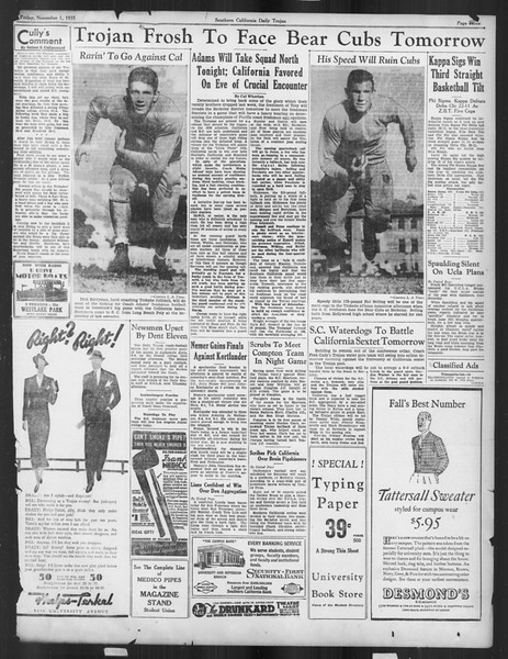 Daily Trojan, Vol. 27, No. 30, November 01, 1935
