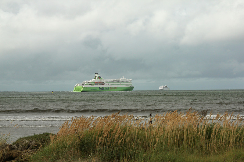 Ferry headed out into to Gulf of Finland -Tallinn, Estonia