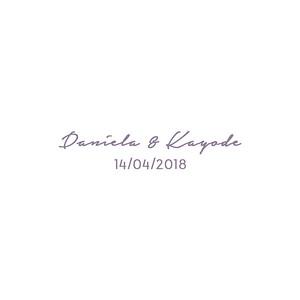 Casamento | Daniela & Kayode - GIFS Animados