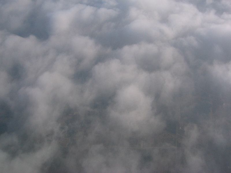 The clouds don't look like snow. The look like...  Leave a comment what you think they look like...