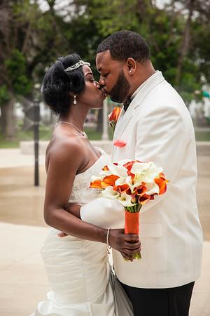 David & Latia Glass' Wedding Day