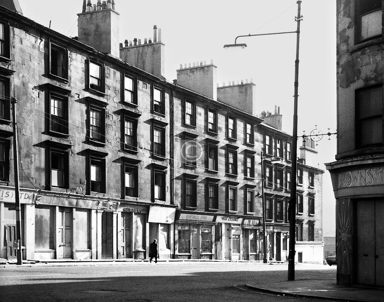 Cowcaddens St, southeast of Airdrie St. 