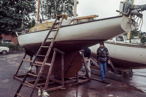 Wooden Boat Repair Fremont Ship Canal 1977