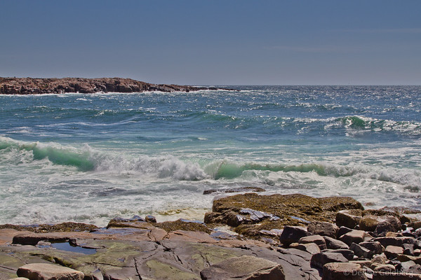 waves, east side of the Schoodic Peninsula