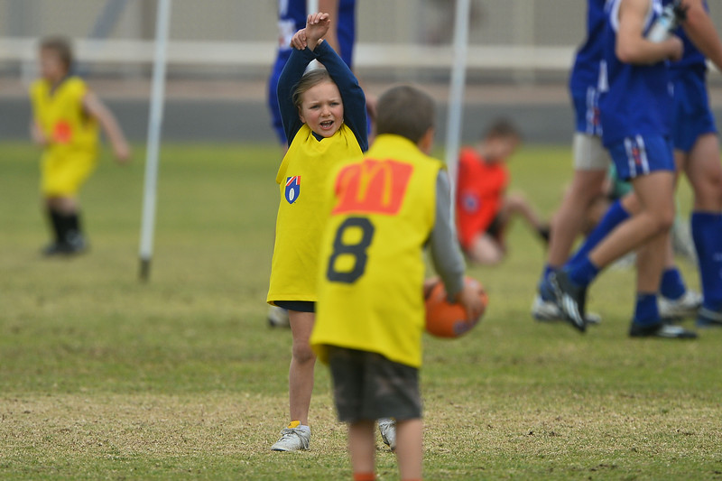 """U9/Auskick"" half time entertainment at ""A"" Grade game"