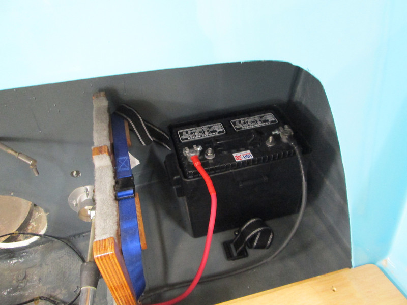New battery, battery box and new battery cables.