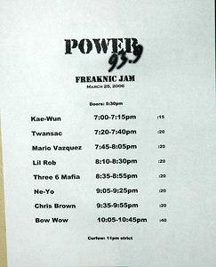 """Power 93.9 """"Freaknic Jam"""" March 25, 2006"""