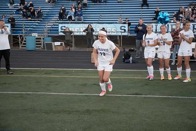 shs girls soccer senior night v cherry hill east