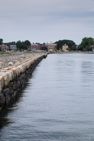 Looking back at Salem from Derby Wharf, Salem Maritime National Historic Site