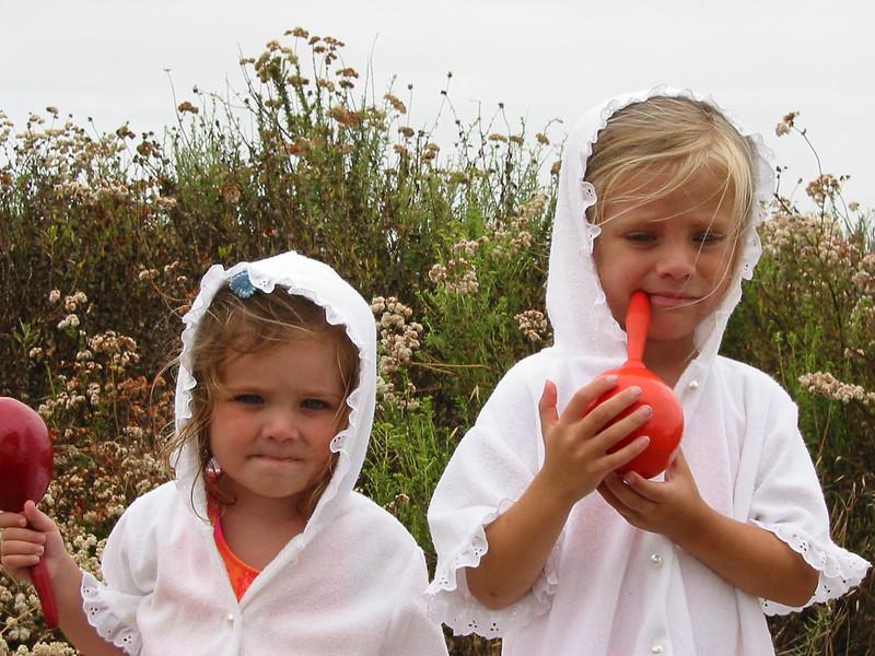 SD--girls in robes at estuary.jpg
