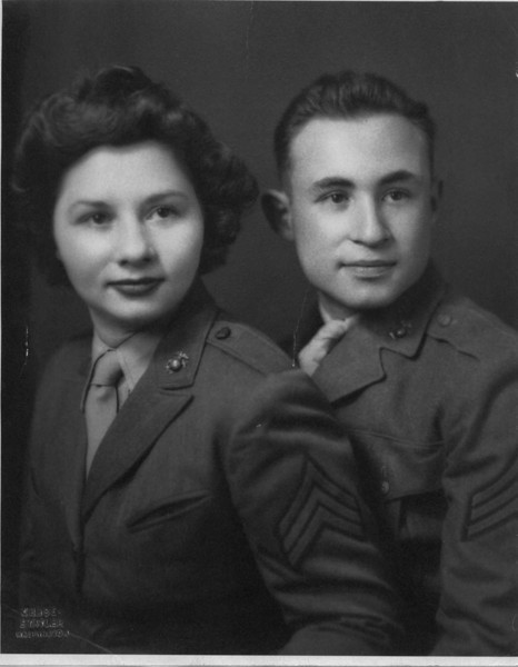 Mom and Dad, Sgts. Mirsky, USMC