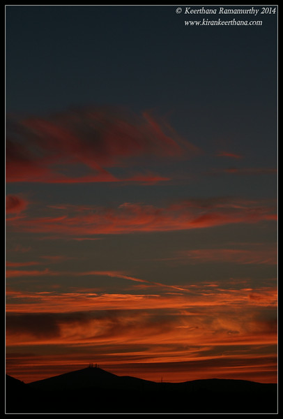 riot of sunset colors on the west while we were waiting for Super Moon to rise on the east, Scripps Ranch, San Diego County, California, July 2014