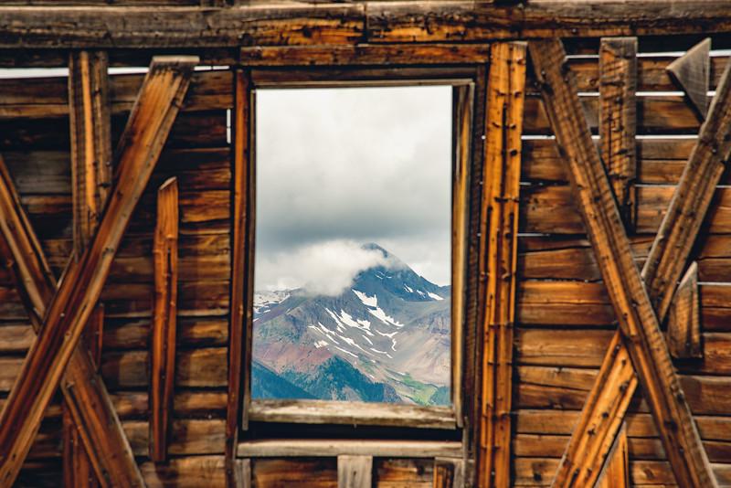 Wilson Peak through the window