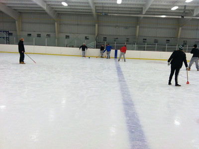 December Broomball at Linen Rink
