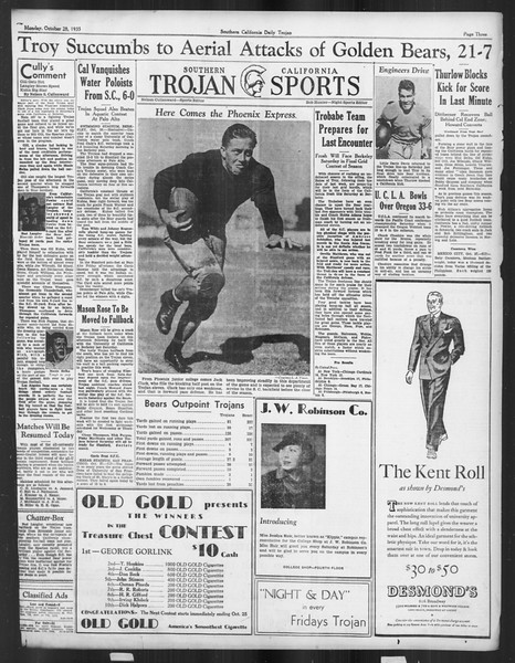 Daily Trojan, Vol. 27, No. 27, October 28, 1935