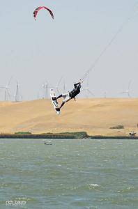 Kiteboarding Sherman Island 7-19-2008