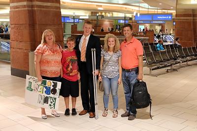 2014  Zach - 08/08/14 Returns from San Antonio Texas