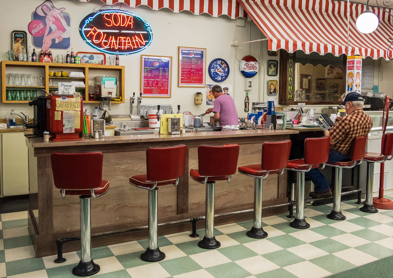 Old Fashioned Drug Store Soda Fountain