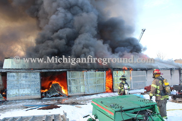 2/26/21 - Williamston commercial structure fire, 967 Norris Rd