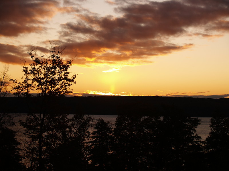 Sunrise on our last day - from the bluff behind the Holiday Inn Express