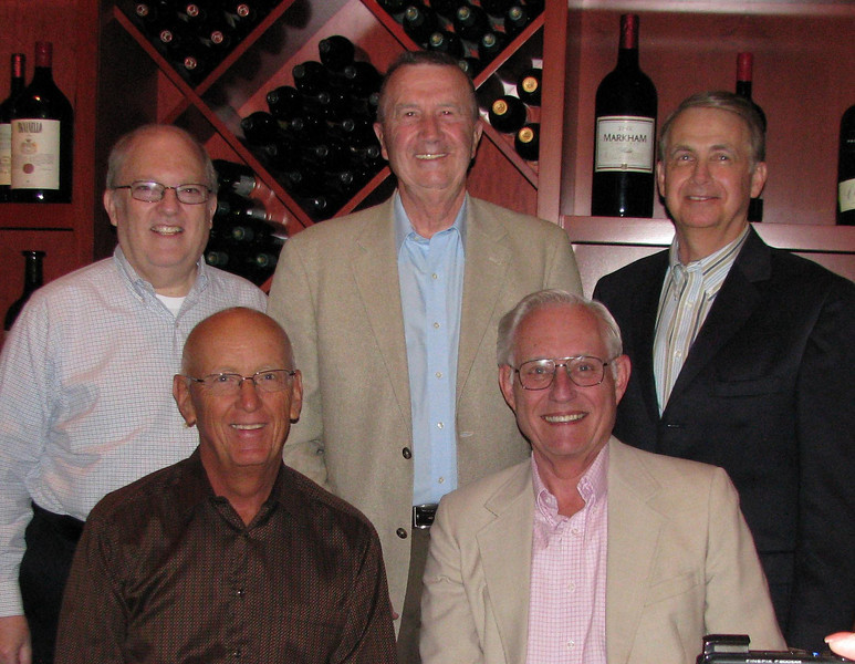 Howard's retirement dinner.  Five of the original Williams, Young & Associates partners (partners are in the same positions they were in the previous 1982 photo) were at the retirement dinner.