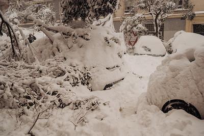 Madrid y la nieve